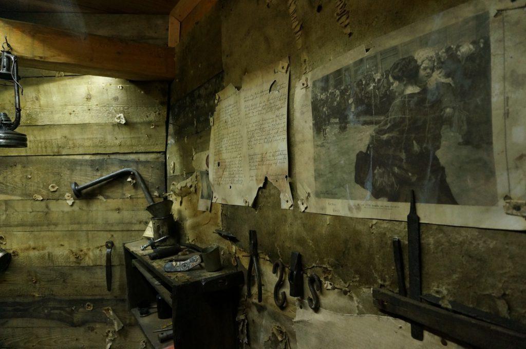 L'interno del museo di Punta Linke (Foto: Davide Orlandi)