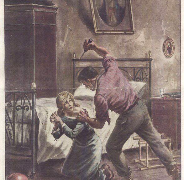 Illustrazione del 1947 che ritrae il martirio di Maria Goretti.