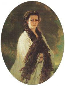I lunghissimi capelli di Elisabetta in un dipinto di Franz Xaver Winterhalter del 1864