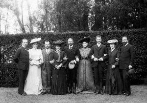 Foto: la famiglia imperiale a Darmstadt nel 1903.